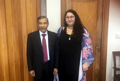 Ramírez Candia se reúne con representante de NN.UU.