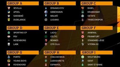 Conforman grupos para la UEFA Europa League