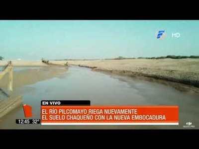 Aguas del Pilcomayo ingresan al Chaco paraguayo