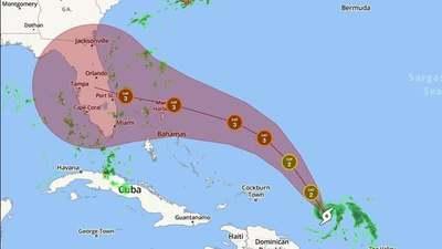El huracán Dorian se fortalece a la Categoría 3 y se pronostica que golpeará a Florida como Categoría 4