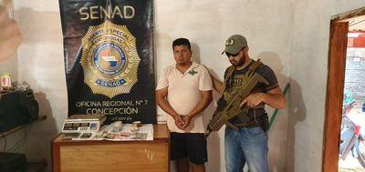 Detienen a vendedor de crack y cocaína en Horqueta