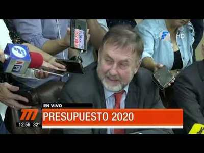 Benigno López presentó el PGN 2020