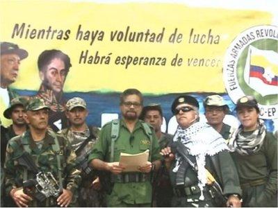"""Paraguay condena """"amenazas"""" de ex dirigentes de FARC de retomar armas"""