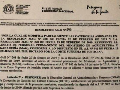 MAG autoriza finalmente el aumentazo a funcionarios