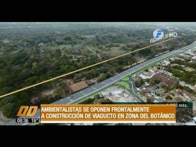 Ambientalistas se oponen frontalmente a construcción de viaducto en zona del Botánico