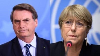Dura réplica de Bolsonaro a Bachelet: reivindicó a la dictadura de Pinochet que mató a su padre