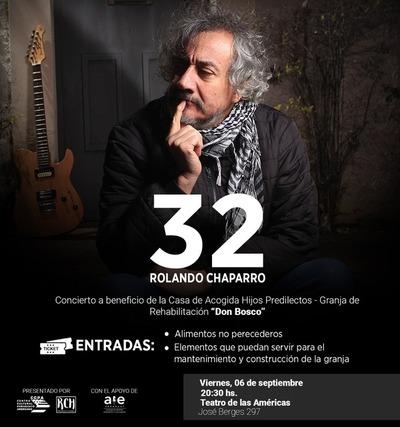 Rolando Chaparro celebrará 32 años de carrera con concierto benéfico