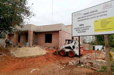 Avanza construcción del Juzgado de Paz de Ñemby a ser inaugurado en octubre