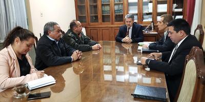 Comisión ultima detalles y coordina logística para ejecutar trabajos en frontera con Bolivia