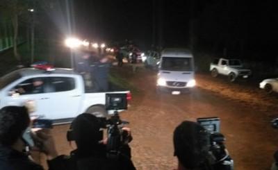 Miembros del PCC y su rehén vuelven a la Penitenciaría de Itapua