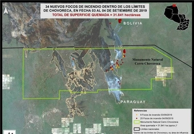 HOY / Detectan 34 nuevos focos de incendios en el Chaco