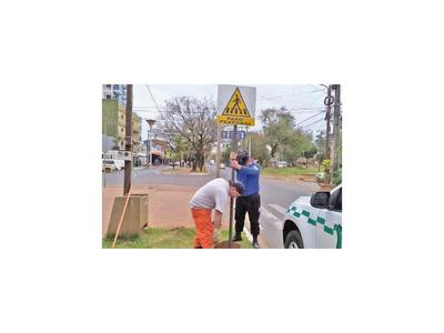 Inicia campaña sobre franja de paso peatonal en CDE