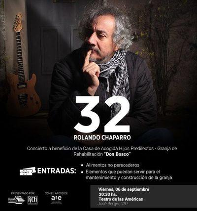 En concierto benéfico, Rolando Chaparro celebrará 32 años de carrera artística