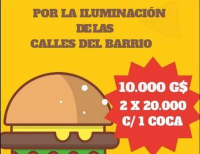 Preparan hamburgueseada para iluminar calles en barrio de CDE