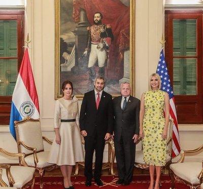 Mario Abdo recibió en el Palacio de Gobierno a Ivanka Trump