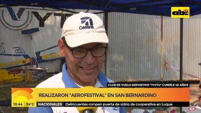 Realizaron el aerofestival en San Bernardino