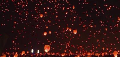 Cielo de Filadelfia se ilumina con faroles chinos