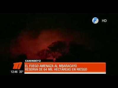 Incendio amenaza la reserva natural del Mbaracayú