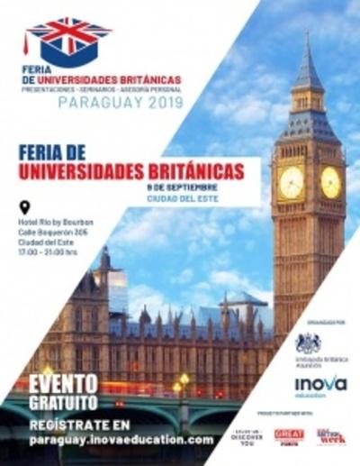 Feria de universidades británicas se realiza hoy en CDE