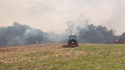Incendio de gran magnitud en Naranjal