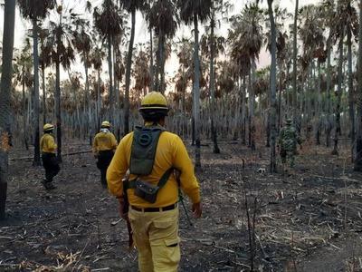 Fuerzas de emergencia continúan trabajos en dos frentes de incendio en el Chaco