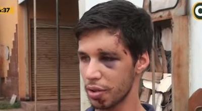 Joven pide justicia tras ser víctima de golpes con amortiguador de moto