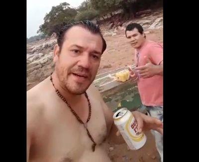 Se ahogó en el río Paraguay por un pack de cervezas