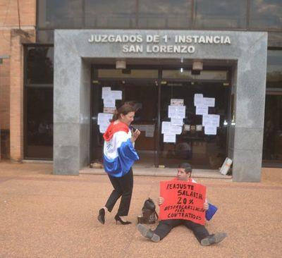 Manifestación en defensa del presupuesto