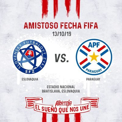 Paraguay se enfrentará con Eslovaquia en un amistoso en octubre