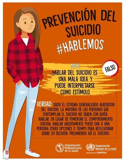 Dirección de Salud Mental desarrolla charlas y sesiones para prevenir los suicidios