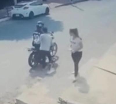 Segunda víctima de motochorros sobre Cacique Lambaré