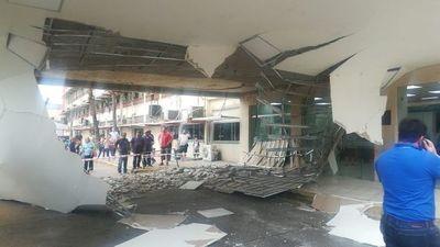 Desgracia con suerte: No se registraron heridos por derrumbe en IPS
