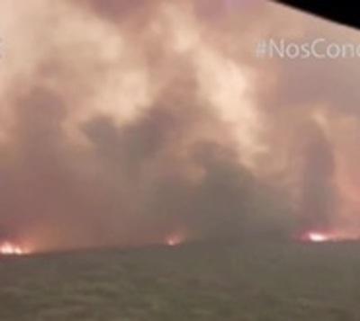 El fuego se salió de control y suspendieron los trabajos en el Chaco