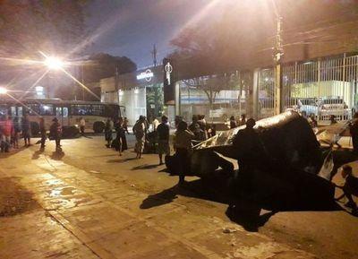 Indígenas bloquearon de nuevo  la avenida Artigas