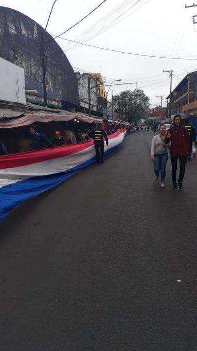 Manifestación: Cierran Julia M. Cueto y Gral. Caballero