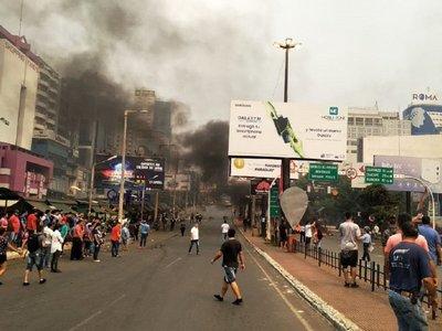 Seis imputados por disturbios durante protesta de paseros en CDE