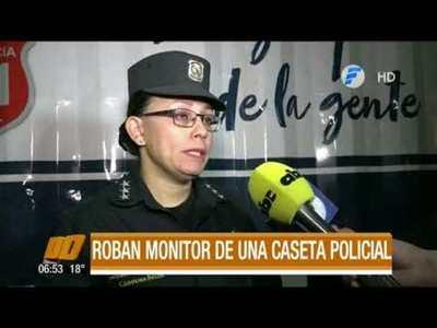 Roban el monitor de una caseta policial