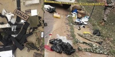 HALLAN EVIDENCIAS EN UN VEHÍCULO ABANDONADO TRAS BALACERA Y FUGA DE PELIGROSO NARCO.