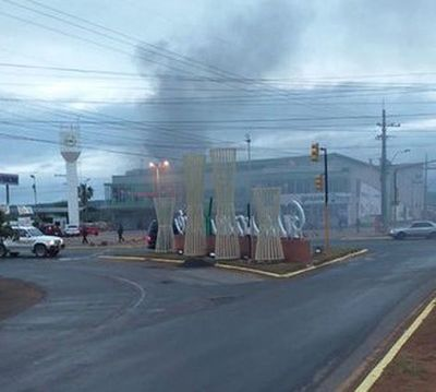 Supermercado se incendió en Guarambaré