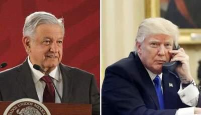 """López Obrador y Trump reafirmaron su""""amistad"""" a través de una llamada telefónica"""