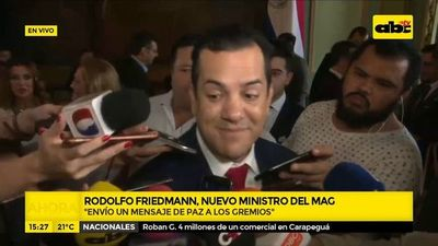 Rodolfo Friedmann jura como nuevo ministro del MAG