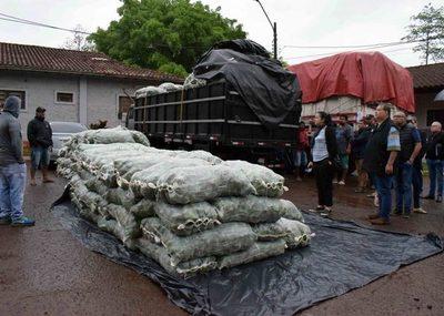 Confirman contrabando en convoy de camiones