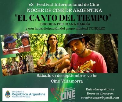 """Embajada Argentina presenta """"El canto del Tiempo"""" en Festival Internacional de Cine"""