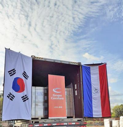 Cavallaro envía primera carga de jabones a Corea