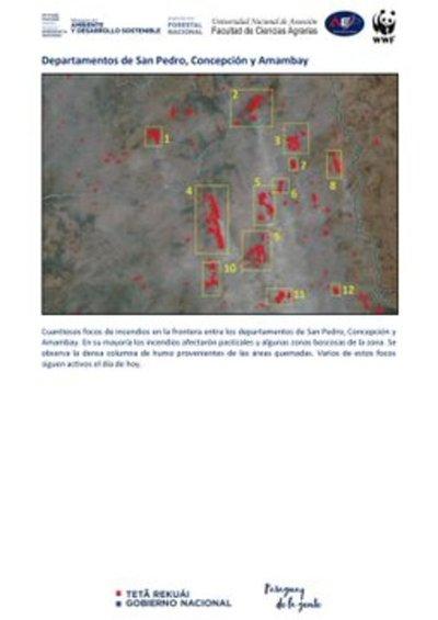 Confirman más de dos mil focos de calor en actividad en Paraguay