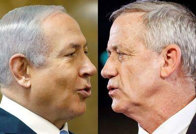 """Netanyahu y Gantz van """"cabeza a cabeza"""", según sondeos"""