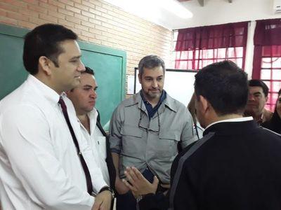 El presidente Mario Abdo Benítez inauguró obras en Horqueta