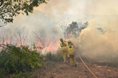 Abrirán cortafuegos en frontera con Bolivia para frenar incendios