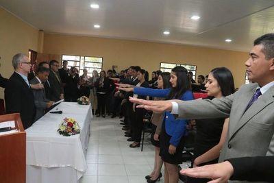 Organizan acto de juramento de abogados en San Pedro