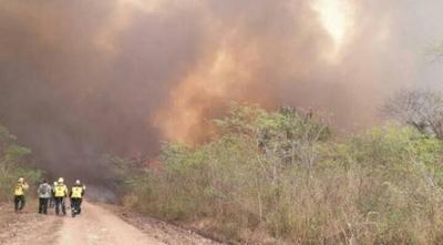 HOY / Con regreso del calor y el viento norte, se reavivan focos de incendio en el Chaco